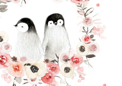La famille pingouins